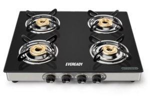 Get Eveready Glass, Stainless Steel Manual Gas Stove  3599   at Rs 3240 | Flipkart Offer