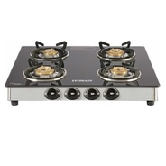 Get Eveready TGC 4B RV Brass, Glass, Stainless Steel Manual Gas Stove (4 Burners) at Rs 2999 | Flipk
