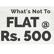 Get Everything Flat Rs.500 | Zivame Offer