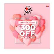 Get Extra Rs.300 OFF On Clothing, Footwear & assesaries | Myntra Offer