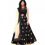 Get Fashion Vogue Womens Black Colour Tafeta silk Dress Materia at Rs 99 | Amazon Offer