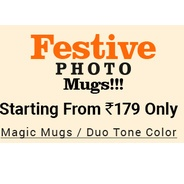 Get Festive Photo Mugs Start Rs.179 at Rs 179 | PrintVenue Offer