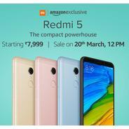 Get First Sale on 20th Mar. at 12PM - Redmi 5 Series Smartphone Start Rs.7999 | Amazon Offer