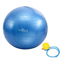 Get Fitkit FK97403 Anti-Burst Anti-Burst Gym Ball with 4.5-inch Foot Pump at Rs 499 | Amazon Offer