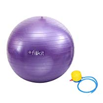 Get Fitkit FK97403 Anti-Burst Gym Ball with 4.5-inch Foot Pump at Rs 449 | Amazon Offer