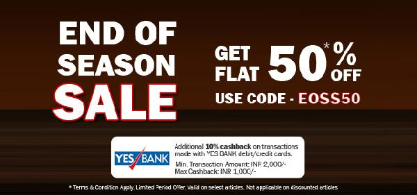 Get Flat 50% Off on Bata Shoes(EOSS50)