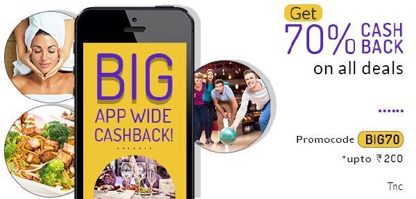 Get Flat 70% Cashback on All Deals at LittleApp