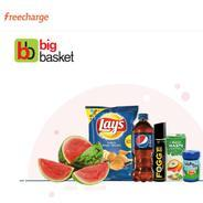 Get Flat Rs.100 Cashback When You Pay With Freecharge On Bigbasket | Freecharge Offer