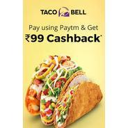 Get Flat Rs.99 Cashback When You Pay Using Paytm at Taco Bell | paytmmall Offer