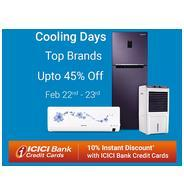 Get Flipkart Cooling Days Offers - Upto 45% OFF | Flipkart Offer