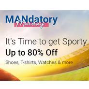 Get Flipkart Mandatory Monday - Shoes, T-Shirts, Watches & More Upto 80% OFF | Flipkart Offer