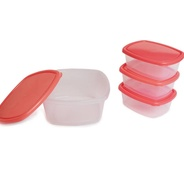 Get Flipkart SmartBuy 4 Piece Refrigerator Storage Containers (Pack of 4, Red) at Rs 129 | Flipkart