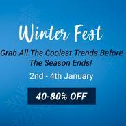 Get Flipkart Winter Fest - Flat 40%-80% OFF on Winter Wear | Flipkart Offer