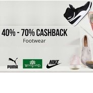 Get Footwears Flat 40% - 70% Cashback | Paytm Offer