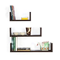 Get Forzza Ronald Wall Shelf, Set of 3 (Matte Finish, Wenge) at Rs 799 | Amazon Offer