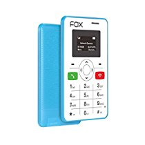 Get Fox Mobiles mini 1 – The Super Slim CleverPhone That Works With Your Smartphone (Blue Colour)