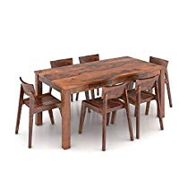 Get Furny Gordan Solid Wood Teak Wood 6 Seater Dining Table Te at Rs 18899 | Amazon Offer