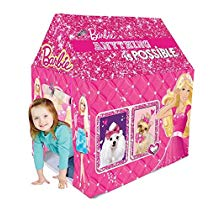 Get Gencliq Barbie Kids Play Tent House – Multi Color at Rs 949   Amazon Offer
