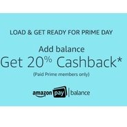 Get Get 20% Cashback on Upto Rs.200 on Add Money | Amazon Offer