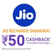 Get Get Rs.50 Cashback on Jio Recharge of Rs.149 at Rs 99 | PhonePe Offer