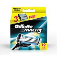 Get Gillette Mach 3 Manual Shaving Razor Blades (Cartridge) 12s pack at Rs 744 | Amazon Offer