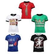 Get Gkidz Boys Printed T Shirt (Multicolor, Pack of 5) at Rs 594   Flipkart Offer