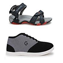 Get Globalite Mens Casual Shoe CruxBlack Grey Casual Sandal A at Rs 557 | Amazon Offer