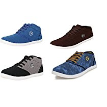 Get Globalite Mens Casual Shoes Canvas Sneakers Combo of 4 Pa at Rs 799 | Amazon Offer