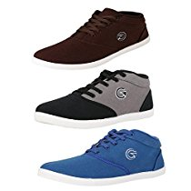 Get Globalite Mens Multicolor Combo Of 3 Casual Shoes 9Uk at Rs 629 | Amazon Offer