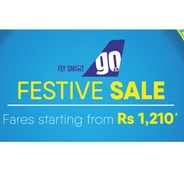 Get GoAir Festive Sale - Domestic Flight Fares Starting From Rs.1210 | musafir Offer