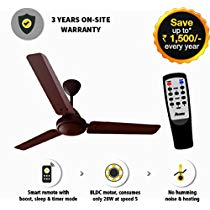 Get Gorilla Energy Saving BLDC Ceiling Fan With Remote 1200 mm at Rs 3046 | Amazon Offer
