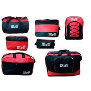 Get H2O Set Of 7 Red/Black Travel Bags Complete Travel Solution at Rs 699 | ebay Offer