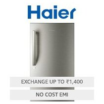 Get Haier 195 L 4 Star Direct-Cool Single Door Refrigerator (HRD-1954BS-R/HRD-1954BS-E, Brushed Silv
