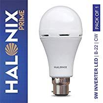 Get Halonix Inverter Led Bulb B22 9-Watt at Rs 449   Amazon Offer