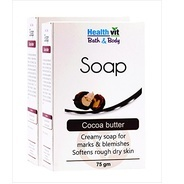 Get Healthvit Bath and Body Cocoa Butter Soap, 75g (Pack of 2) at Rs 107 | Amazon Offer
