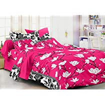 Get Homefab India 3D 140 TC Polycotton Double Bedsheet with 2 Pillow Covers – Floral at Rs 283 | A