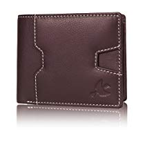 Get Hornbull Edward Brown Mens Genuine Leather RFID Blocking W at Rs 494 | Amazon Offer