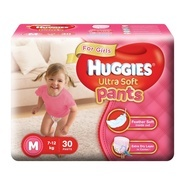 Get Huggies Ultra Soft Pants Medium Size Premium Diapers for Girls (White, 30 Counts) at Rs 359 | Am