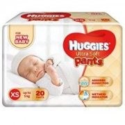Get Huggies Ultra Soft XS Size Diaper Pants (20 Count)     at Rs 99 | Amazon Offer
