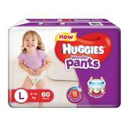 Get Huggies Wonder Pants Large Size Diapers (60 Count) at Rs 569 | Amazon Offer