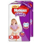 Get Huggies Wonder Pants Large Size Diapers - L (96 Pieces) at Rs 891 | Flipkart Offer