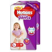 Get Huggies Wonder Pants Large Size Diapers - L (96 Pieces) at Rs 908 | Flipkart Offer
