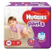 Get Huggies Wonder Pants - M (56 Pieces) at Rs 459   Flipkart Offer