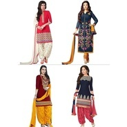 Get Indian Women Attire Pack Of 4 Salwar Suits By 1 Stop Fashion at Rs 999 | homeshop18 Offer