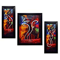 Get INDIANARA 3 PC SET OF GANESHA PAINTINGS 1088 WITHOUT GLASS at Rs 359 | Amazon Offer