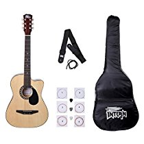 Get Intern INT-38C Acoustic Guitar Kit, Natural at Rs 1699 | Amazon Offer