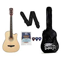 Get Intern INT-38C Acoustic Guitar Kit, Natural at Rs 1890 | Amazon Offer