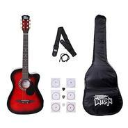 Get Intern INT-38C Acoustic Guitar Kit, Red at Rs 2147 | Amazon Offer
