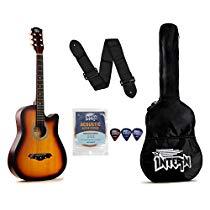 Get Intern INT-38C Acoustic Guitar Kit, Sunburst at Rs 1649 | Amazon Offer