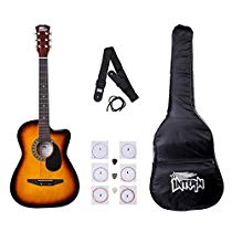 Get Intern INT-38C Acoustic Guitar Kit, Sunburst at Rs 1999 | Amazon Offer
